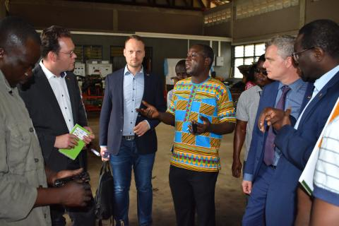 German Parliament  Delegation Visits Koforidua